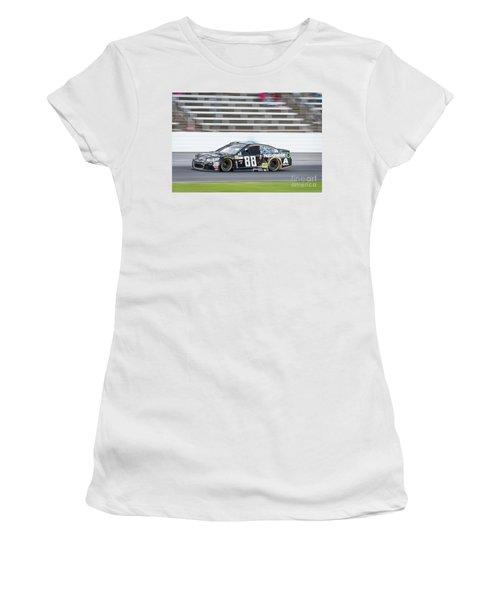 Dale Earnhardt Jr Running Hard At Texas Motor Speedway Women's T-Shirt