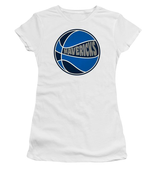 Women's T-Shirt (Junior Cut) featuring the photograph Dallas Mavericks Retro Shirt by Joe Hamilton