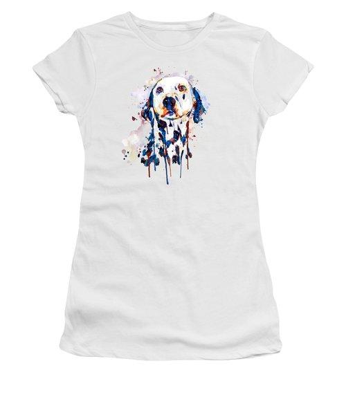 Dalmatian Head Women's T-Shirt (Athletic Fit)