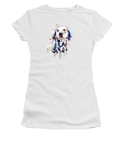 Dalmatian Head Women's T-Shirt (Athletic Fit)