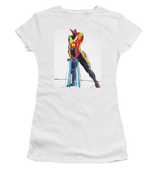 Dancer With Drafting Stool Women's T-Shirt
