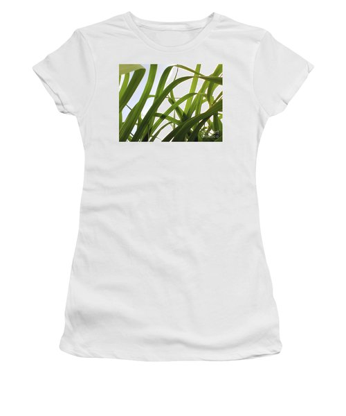 Women's T-Shirt (Athletic Fit) featuring the photograph Dancing Bamboo by Rebecca Harman