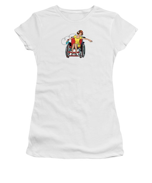 Dancing Girl In A Wheelchair Women's T-Shirt