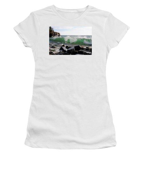 Dancing Waves Women's T-Shirt (Junior Cut) by Sandra Updyke