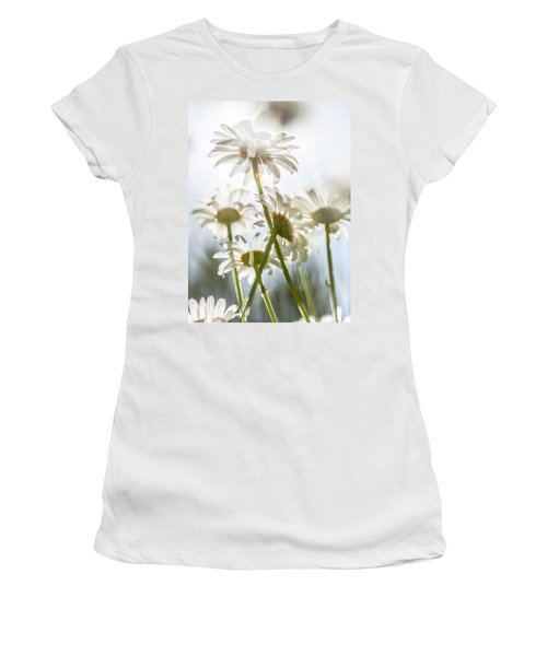 Women's T-Shirt (Junior Cut) featuring the photograph Dancing With Daisies by Aaron Aldrich