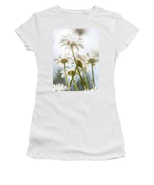 Dancing With Daisies Women's T-Shirt (Junior Cut) by Aaron Aldrich