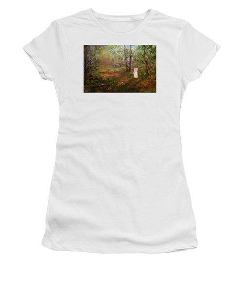 Dandelion In The Breez Women's T-Shirt (Athletic Fit)
