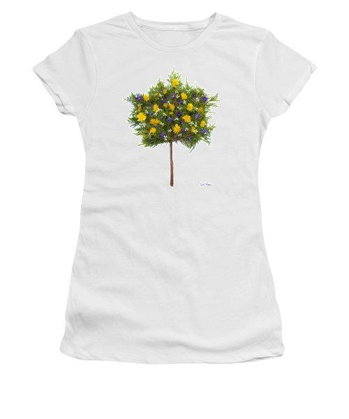 Women's T-Shirt (Junior Cut) featuring the photograph Dandelion Violet Tree by Lise Winne