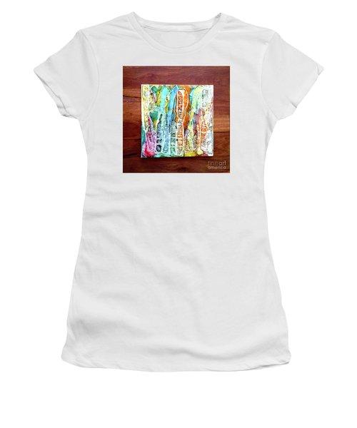 Danxia Water Falls Women's T-Shirt (Athletic Fit)