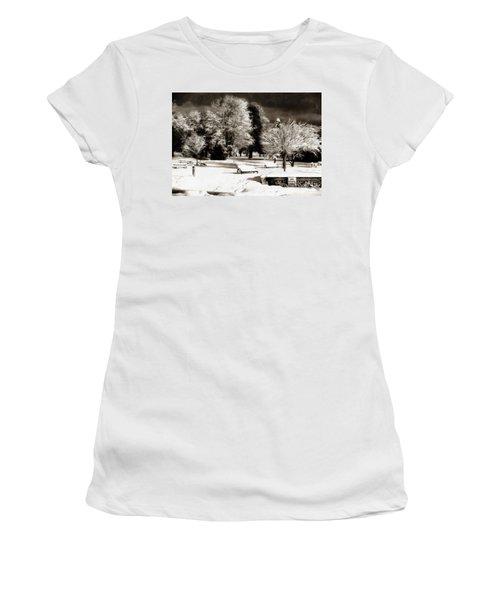Dark Skies And Winter Park Women's T-Shirt