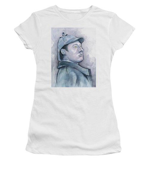Data As Sherlock Holmes Women's T-Shirt (Athletic Fit)