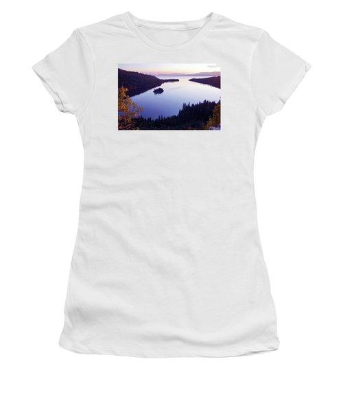 Dawn At Emerald Bay, Lake Tahoe Women's T-Shirt (Athletic Fit)