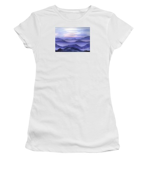 Women's T-Shirt (Junior Cut) featuring the painting Day Break by Yolanda Koh