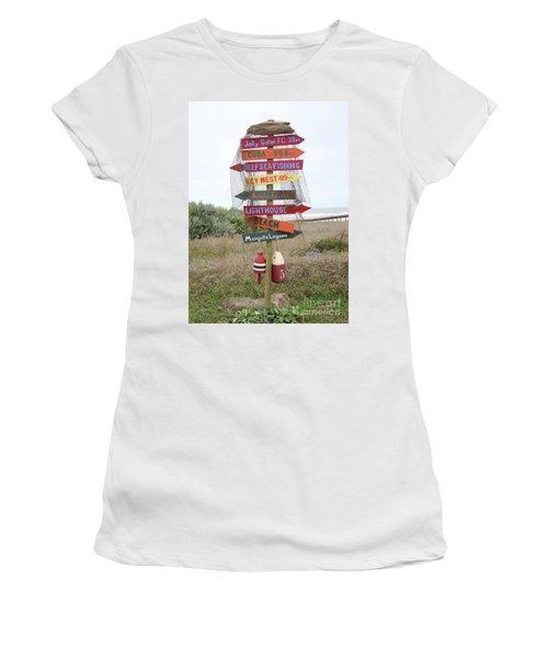 Women's T-Shirt (Junior Cut) featuring the photograph Daytona Crossroads by Dodie Ulery