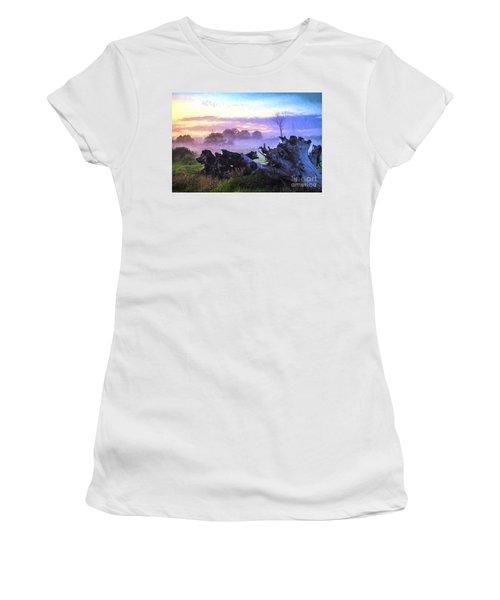 Dead Tree In Morning Mist Women's T-Shirt