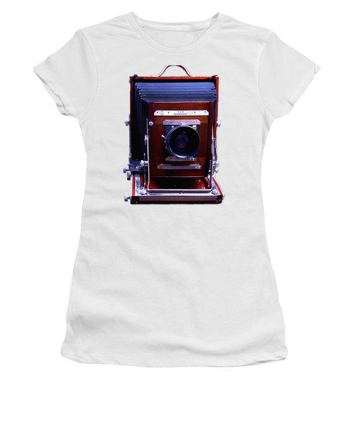 Deardorff 8x10 View Camera Women's T-Shirt (Junior Cut) by Joseph Mosley