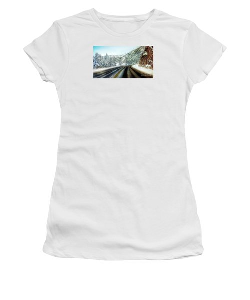 December Drive 4 Women's T-Shirt (Junior Cut) by Janie Johnson