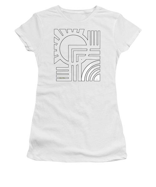 Deco Design White Women's T-Shirt (Athletic Fit)