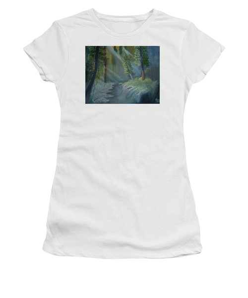 Deep Woods Dry Gulch Women's T-Shirt (Athletic Fit)