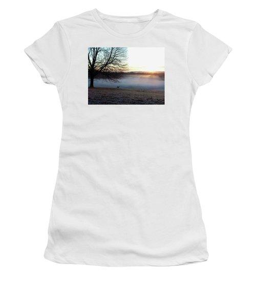 Deer At Dawn Women's T-Shirt (Athletic Fit)