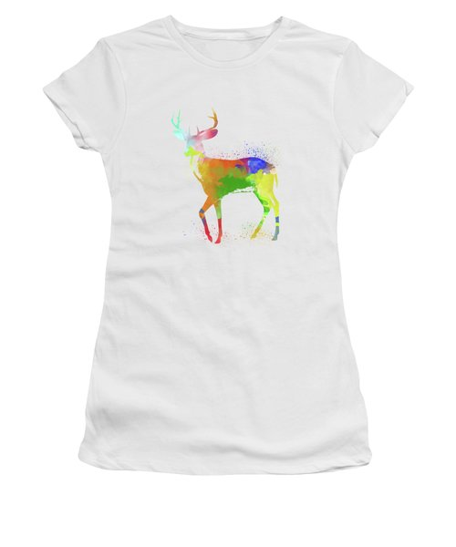 Deer Watercolor 1 Women's T-Shirt (Athletic Fit)