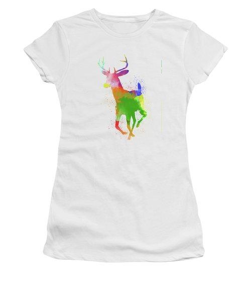 Deer Watercolor 2 Women's T-Shirt (Athletic Fit)