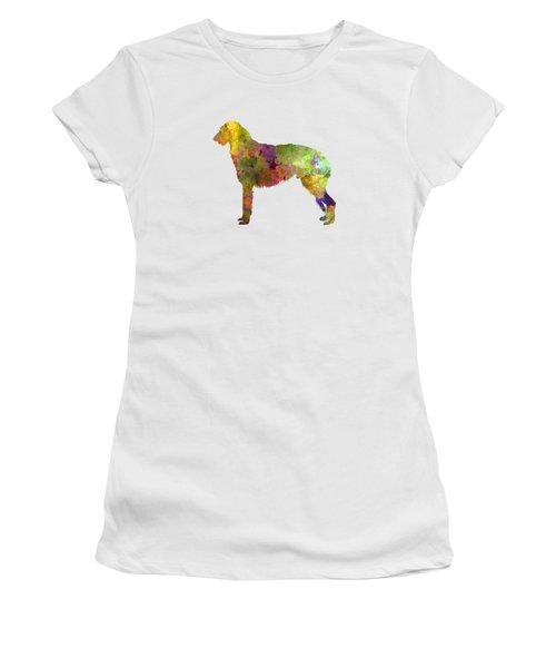 Deerhound 01 In Watercolor Women's T-Shirt