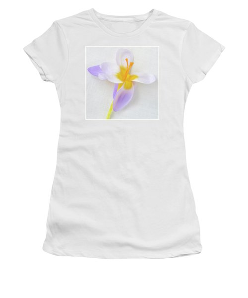 Women's T-Shirt (Junior Cut) featuring the photograph Delicate Art Of Crocus by Terence Davis