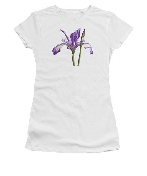 Delicate Purple Iris Painting Women's T-Shirt