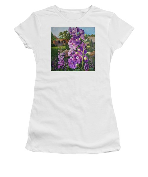 Delightful Delphiniums Women's T-Shirt (Athletic Fit)