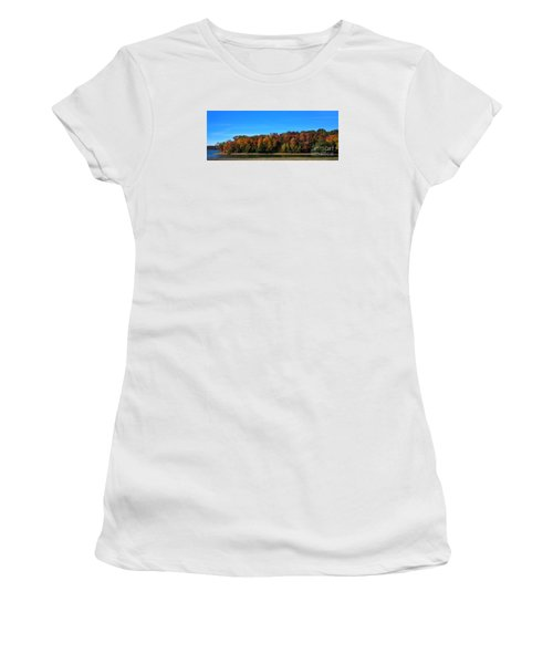 Delta Lake State Park Foliage Women's T-Shirt (Junior Cut) by Diane E Berry