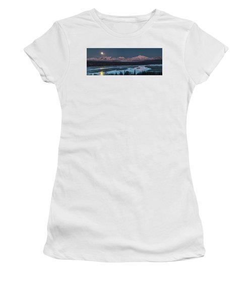 Denali Morning Blue Women's T-Shirt (Athletic Fit)