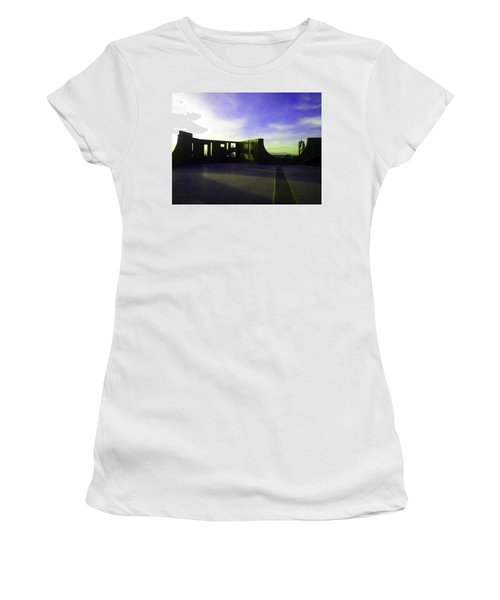Women's T-Shirt (Junior Cut) featuring the photograph Denver Art Museum Deck 1 by Marilyn Hunt