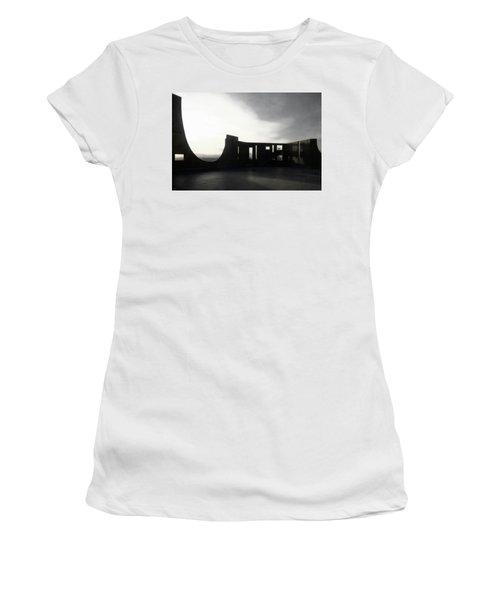 Women's T-Shirt (Junior Cut) featuring the photograph Denver Art Museum Ponti 2 by Marilyn Hunt