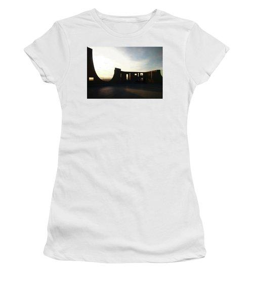 Women's T-Shirt (Junior Cut) featuring the photograph Denver Art Museum Ponti Deck by Marilyn Hunt