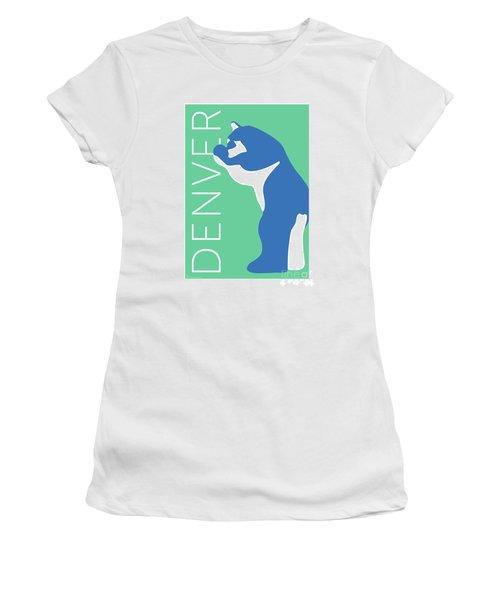 Denver Blue Bear/aqua Women's T-Shirt