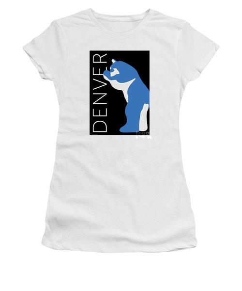 Denver Blue Bear/black Women's T-Shirt