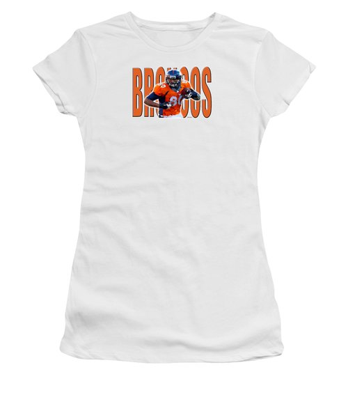 Denver Broncos Women's T-Shirt (Junior Cut) by Stephen Younts