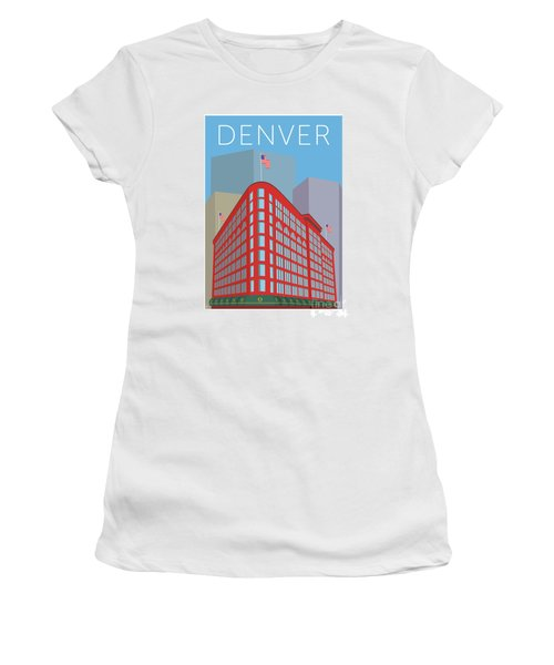 Denver Brown Palace/blue Women's T-Shirt (Athletic Fit)