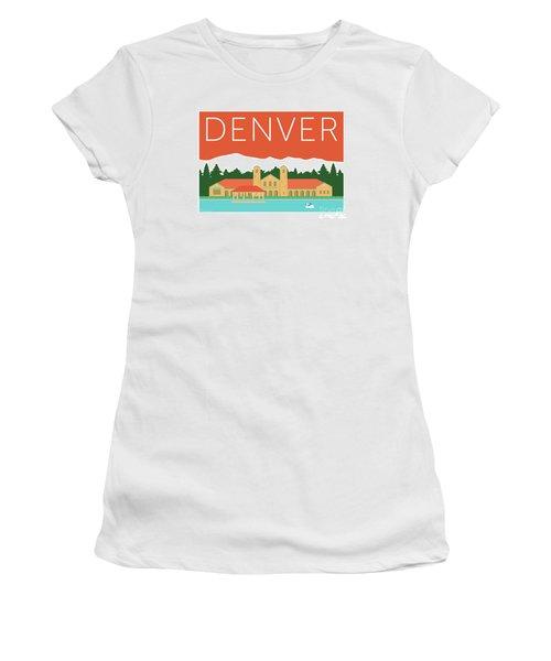 Denver City Park/coral Women's T-Shirt
