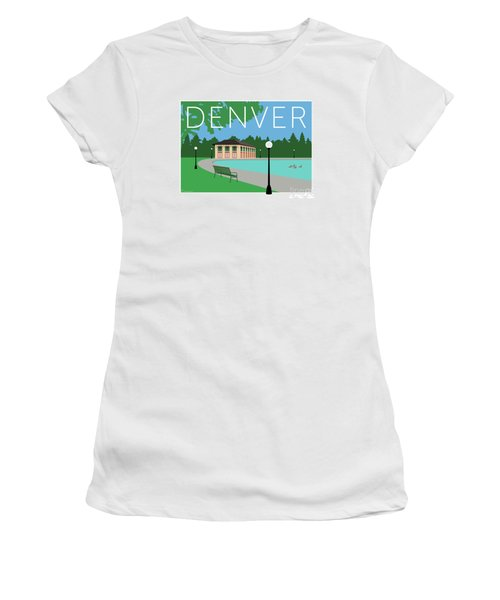 Denver Washington Park/blue Women's T-Shirt (Athletic Fit)