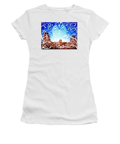 Women's T-Shirt featuring the painting Desert Hallucinogens by Michelle Dallocchio