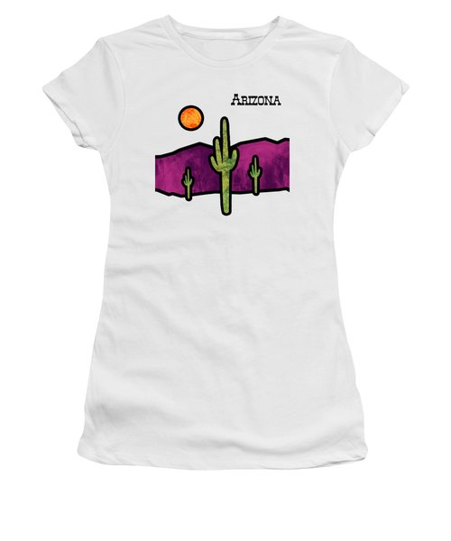 Desert Stained Glass Women's T-Shirt (Junior Cut) by Methune Hively