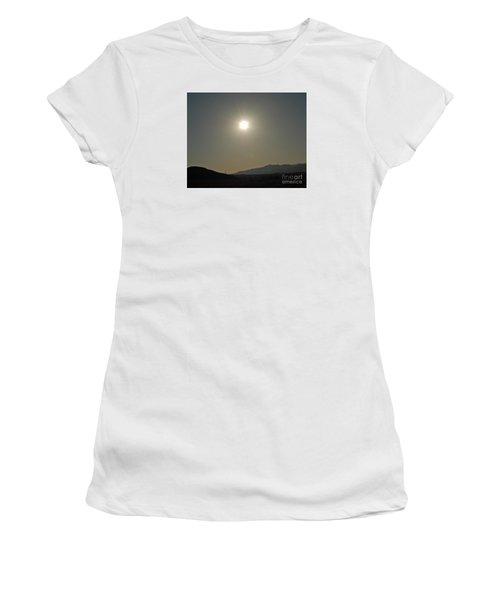 Women's T-Shirt (Junior Cut) featuring the digital art Desert Sun by Walter Chamberlain