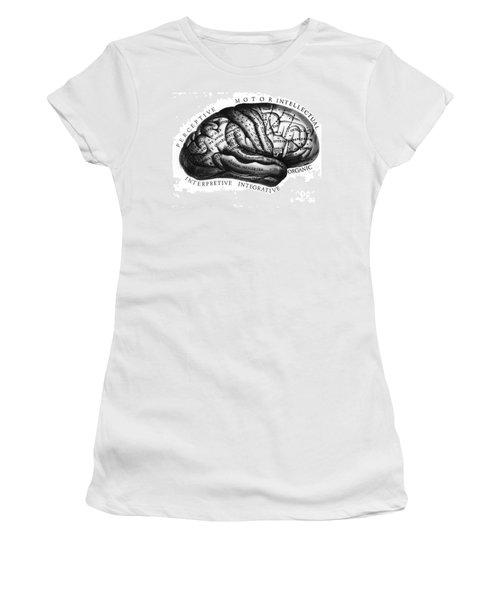Diagram Of Brain Functions Women's T-Shirt