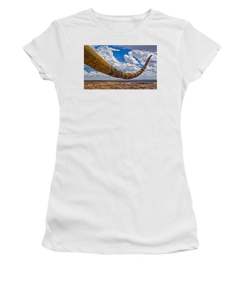 Dinosaur Tales Women's T-Shirt (Junior Cut) by Gary Warnimont