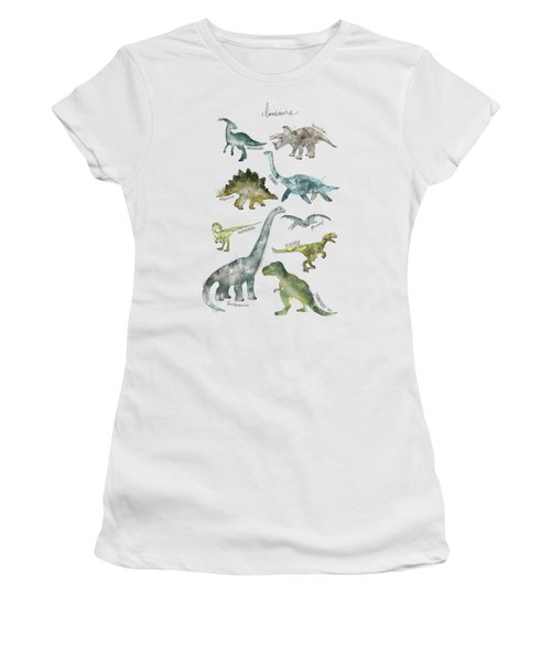 Dinosaurs Women's T-Shirt (Junior Cut) by Amy Hamilton