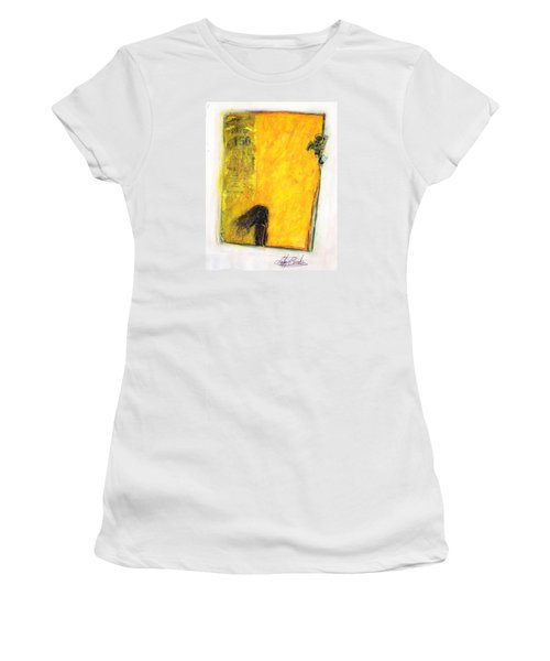 Women's T-Shirt (Athletic Fit) featuring the painting Dirty Slumber Part One by Geraldine Gracia