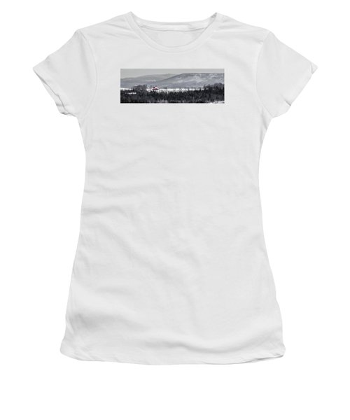 Distant Red Barn Women's T-Shirt