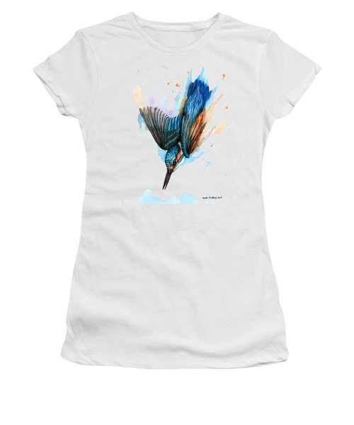 Diving Kingfisher Women's T-Shirt (Athletic Fit)
